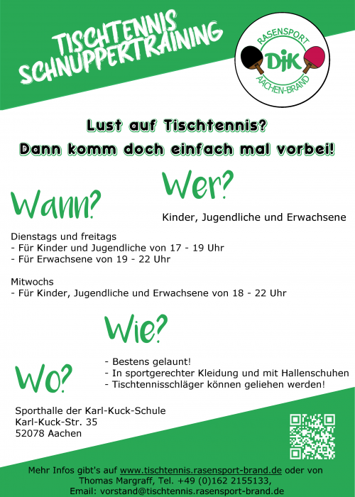Flyer Schnuppertraining